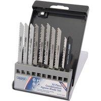 Draper Draper JSBCU10 Expert 10 Piece Assorted Jigsaw Blade Set