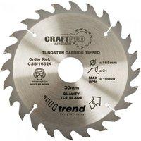 Trend Trend CSB 16524 Craft Saw Blade 165x30mm 24T