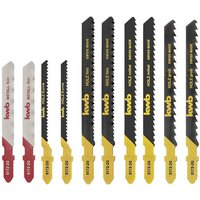 Einhell Einhell KWB 10 Piece U- Shank Jigsaw Blade Set