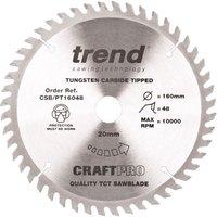 Trend Trend CSB PT16048 160mm Diameter x 20mm Circular Saw Blade