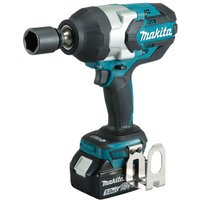 Makita Makita DTW1001RTJ 18V LXT BL Brushless Cordless 3 Speed 3 4   19 mm  1 050 Nm  780 ft lbs   Impact Wrench with 2 x 5 0Ah batteries