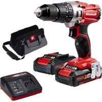 Einhell Power X Change Einhell Power X Change TE CD 18 2 Cordless Li Ion Impact Drill Kit with 2x1 5Ah Batteries