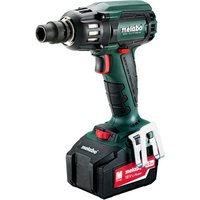 Metabo Metabo SSW 18 LTX 400 BL Cordless Impact Wrench with 2x4 0Ah Batteries