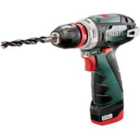 Metabo Metabo PowerMaxx BS Quick Pro Cordless Drill Driver with 2x2 0Ah Batteries