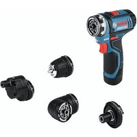 Bosch Bosch GSR 12 V-15 FC Professional 10.8/12 V FlexiClick Drill Driver With 2x2.0Ah Batteries