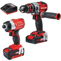 Einhell Power X Change Einhell Power X Change Combi Drill   Impact Driver Twinpack with 1 x 2 0Ah  1 x 4 0Ah batteries