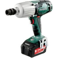 Metabo Metabo SSW 18 LTX 600 Cordless Impact Wrench with 2x4 0Ah Batteries