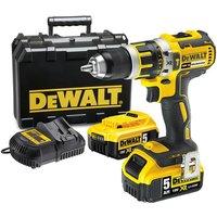 Power Tools Price Cuts DeWalt DCD795P2 18V Li Ion Hammer Drill Driver  2 x 5 0Ah XR Li Ion Batteries   Kit Box