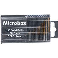 Machine Mart Microbox 20 Piece Micro HSS Twist Drill Set