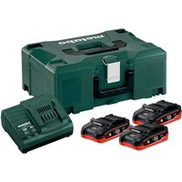 Metabo Metabo 3 1Ah Battery   Charger Set  4 Piece