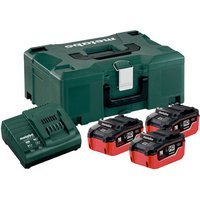 Metabo Metabo 5 5Ah Battery   Charger Set  4 Piece