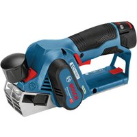 Bosch Bosch GHO 12 V 20 Professional Brushless 12 V Planer with 2x3Ah Batteries  Charger and L Boxx