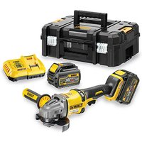 DeWalt XR FlexVolt DeWalt DCG414T2 54V XR Li Ion Angle Grinder with 2x6Ah Li Ion Batteries