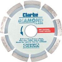 Clarke Clarke LWS115 Diamond Blade 115mm
