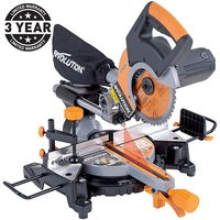 110 Volt Evolution RAGE3-S+ 210mm Multipurpose Sliding Mitre Saw (110V)
