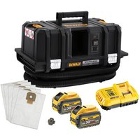 DeWalt XR FlexVolt DeWalt DCV586MT2 GB 54V XR FLEXVOLT M Class Dust Extractor with 2 x 6Ah Batteries
