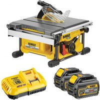DeWalt XR FlexVolt DeWalt XR FlexVolt DCS7485T2 54V Table Saw with 2x6 0Ah Batteries