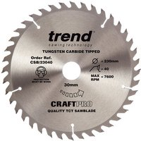 Trend Trend CSB/23040 Craft Saw Blade 230x30mm 40T