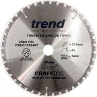 Trend Trend CSB CC25440T Craft Saw Blade 254x30mm 40T
