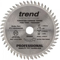 Trend Trend FT Saw Blade 165x20mm 48T