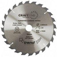 Trend Trend CSB 25024 Craft Saw Blade 250x30mm 24T