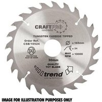 Trend Trend CSB/25030 Craft Saw Blade 250x30mm 30T