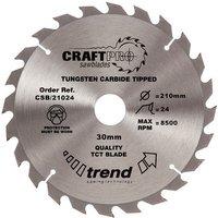 Trend Trend CSB 21024 Craft Saw Blade 210x30mm 24T