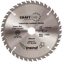 Trend Trend CSB/16540T Craft Saw Blade 165x20mm 40T
