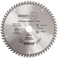 Trend Trend CSB/19060 Craft Saw Blade 190x30mm 60T