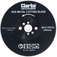 Clarke Clarke 225mm Metal Cutting Circular Saw Blade