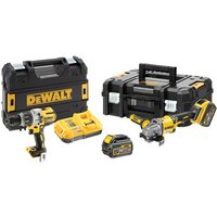 DeWalt XR FlexVolt DeWalt DCK2055T2T GB 18V Combi Drill   54V XR FLEXVOLT Angle Grinder with 2 x 54V 6Ah Batteries