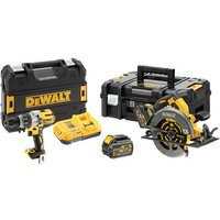 DeWalt XR FlexVolt DeWalt DCK2056T2T GB 18V Combi Drill   54V XR FLEXVOLT Circular Saw with 2 x 54V 6Ah Batteries