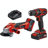 Einhell Einhell TC-TK 18 Li Power X-Change Cordless Drill Driver and Angle Grinder Kit