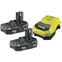 Ryobi Ryobi RBC18LL13 18V One+ 1.3Ah Li-Ion Battery Twin Pack & Charger