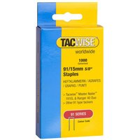 Tacwise Tacwise 91 Series 15mm Galvanised Staples 1000 pack