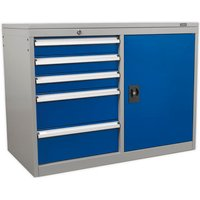 Sealey Sealey API1103B Industrial 5 Drawer and 1 Shelf Cabinet/Workstation