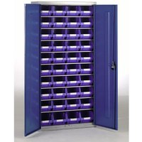Barton Storage Barton Topstore Container Cabinet with 40 x TC3 Blue Containers