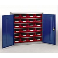 Barton Storage Barton Topstore Container Cabinet with 24 x TC4 Red Containers