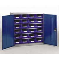 Barton Storage Barton Topstore Container Cabinet with 24 x TC4 Blue Containers