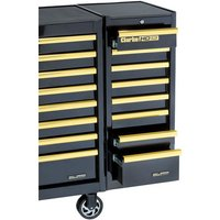 Clarke Clarke SL41BGB 8 Drawer Side Locker (Black & Gold)