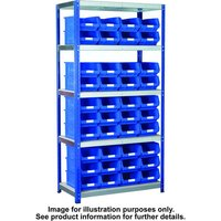 Barton Storage Barton Storage Eco-Rax TC Shelving Unit With 40 TC4 Red Containers