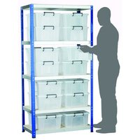 Machine Mart Xtra Barton Storage Eco-Rax Shelving Unit With 14 24 Litre Storemaster Containers