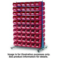 Barton Storage Topstore MDS1.5 Spacemaster TC Double Sided Bin Kit 80 x TC4 Red 011528B