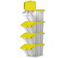 Barton Storage Barton Topstore Multi-Functional Containers with Yellow Lids