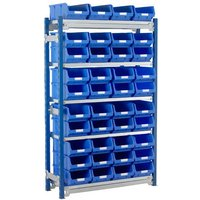 Machine Mart Xtra Barton Toprax Standard Initial Bay with 40 TC4 Bins & 5 Shelves