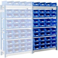 Machine Mart Xtra Barton Toprax Standard Extension Bay with 40 TC4 Bins & 5 Shelves