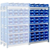 Machine Mart Xtra Barton Toprax Double Extension Bay with 80 TC4 Bins & 10 Shelves
