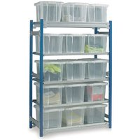 Barton Storage Barton Toprax Standard Initial Shelving Bay with 15 x 24 ltr Containers