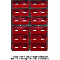 Barton Storage Topstore 24 Bin Storage Kit Red 1828 x 641mm