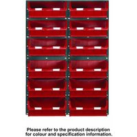 Barton Storage Topstore 12 Bin Storage Kit Red 1828 x 641mm